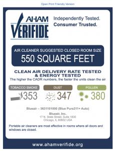 Verifide Blueair 211 Units